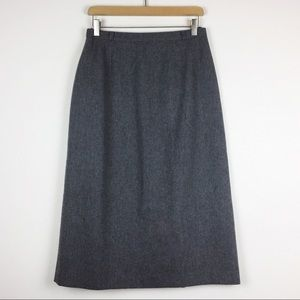 Vintage high waisted wool blend skirt from France